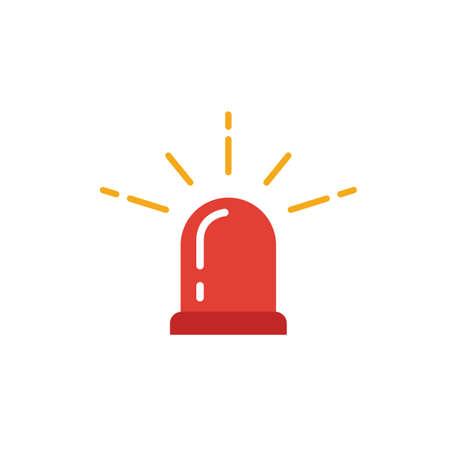 Icona del lampeggiatore di polizia. Elemento semplice dalla collezione di icone di sicurezza. Icona Creative Police Flasher ui, ux, app, software e infografiche.