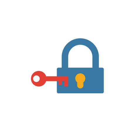 Lock icon. Simple element from security icons collection. Creative Lock icon ui, ux, apps, software and infographics. Illusztráció