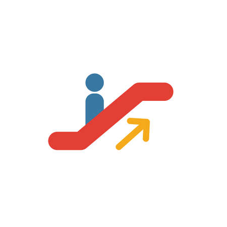 Escalator Up icon. Simple element from shopping center sign icons collection. Creative Escalator Up icon ui, ux, apps, software and infographics.