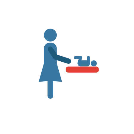 Mother And Baby Room icon. Simple element from shopping center sign icons collection. Creative Mother And Baby Room icon ui, ux, apps, software and infographics. Archivio Fotografico - 134855860