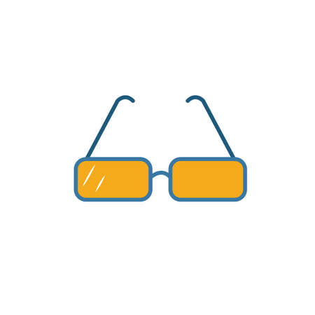 Glasses icon. Simple element from school icons collection. Creative Glasses icon ui, ux, apps, software and infographics. Иллюстрация
