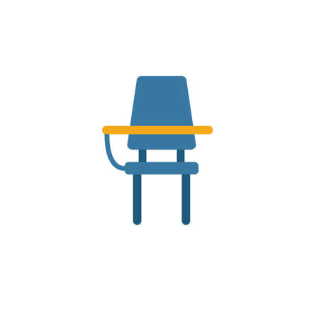 School Desk icon. Simple element from school icons collection. Creative School Desk icon ui, ux, apps, software and infographics. 일러스트