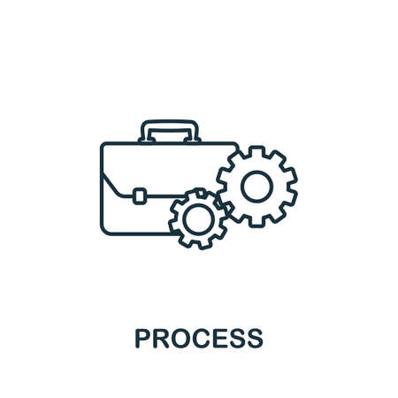 Process line icon. Thin style element from business administration collection. Simple Process icon for web design, apps and software.
