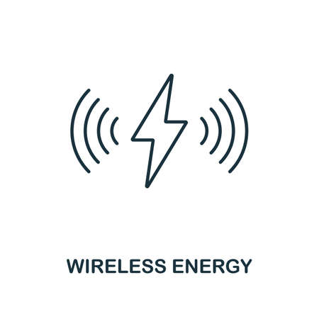 Wireless Energy line icon. Thin style element from future technology collection. Outline Wireless Energy icon for web design, apps and software.