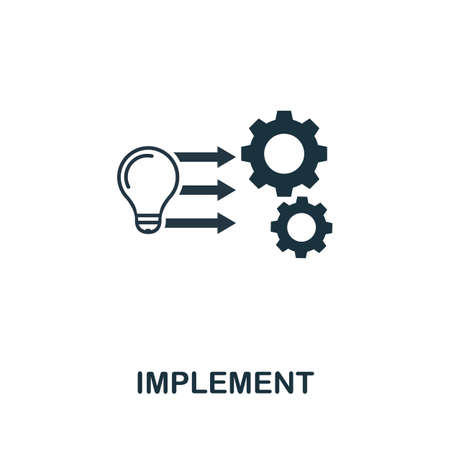 Implement icon. Creative element from business administration collection. Simple Implement icon for web design, apps and software.