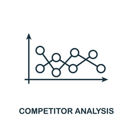 Competitor Analysis icon. Line style element from business strategy collection. Thin Competitor Analysis icon for web design, software and infographics. Ilustração Vetorial