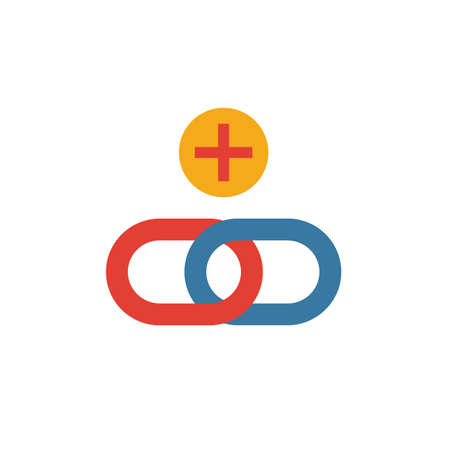 Link Building icon. Simple element from web development icons collection. Creative Link Building icon ui, ux, apps, software and infographics. Illustration