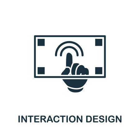 Simple element from design technology collection. Filled Interaction Design icon for templates, infographic and more.