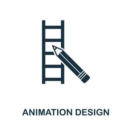 Animation Design icon. Simple element from design technology collection. Filled Animation Design icon for templates, infographics and more.