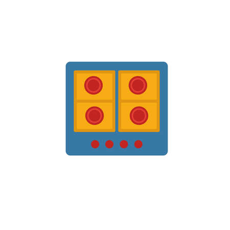 Gas Hob icon. Simple flat element from household collection. Creative gas hob icon for templates, software and apps.