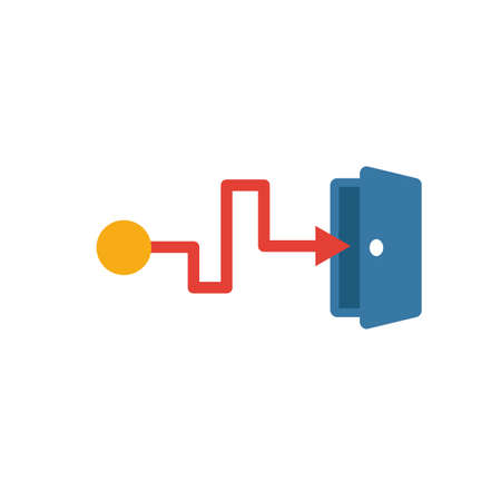 Exit Strategy icon. Simple flat element from crowdfunding collection. Creative exit strategy icon for templates, software and apps. Ilustrace