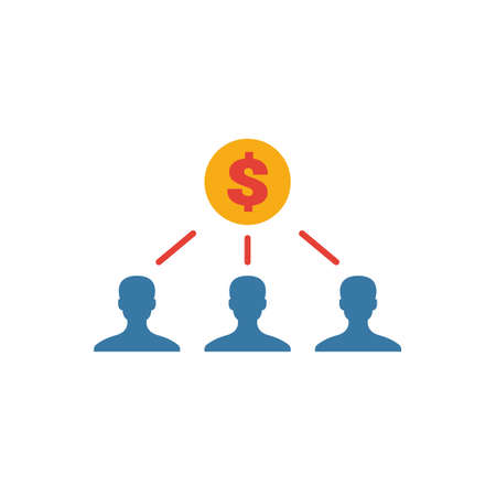 Shareholders icon. Simple flat element from crowdfunding collection. Creative shareholders icon for templates, software and apps. Ilustração