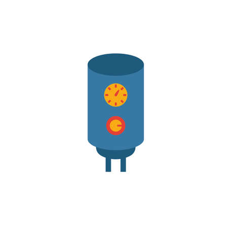 Heater icon. Simple flat element from household collection. Creative heater icon for templates, software and apps.