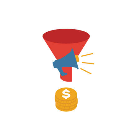 Marketing Funnel icon. Simple flat element from crm collection. Creative marketing funnel icon for templates, software and apps.