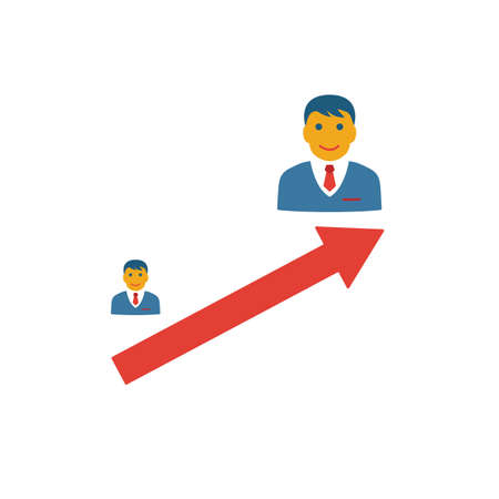 Escalation icon. Simple flat element from crm collection. Creative escalation icon for templates, software and apps.