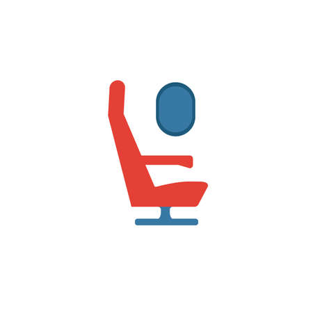 Airplane Seat icon. Flat creative element from airport icons collection. Colored airplane seat icon for templates, web design and software.