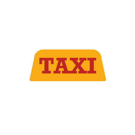 Taxi icon. Flat creative element from airport icons collection. Colored taxi icon for templates, web design and software.