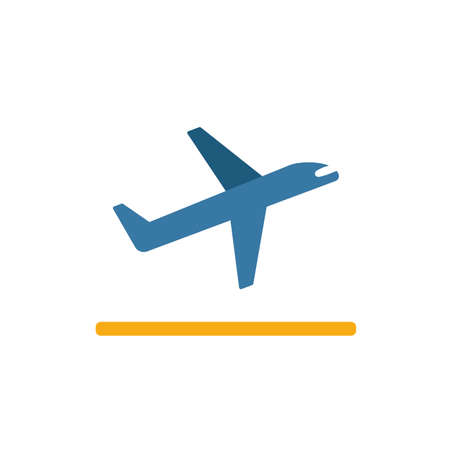 Takeoff icon. Flat creative element from airport icons collection. Colored takeoff icon for templates, web design and software.