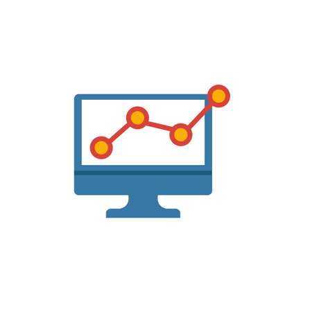 Web Analytics icon. Flat creative element from advertising icons collection. Colored web analytics icon for templates, web design and software.