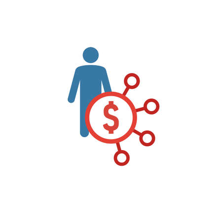 Affiliate Marketing icon. Flat creative element from advertising icons collection. Colored affiliate marketing icon for templates, web design and software.