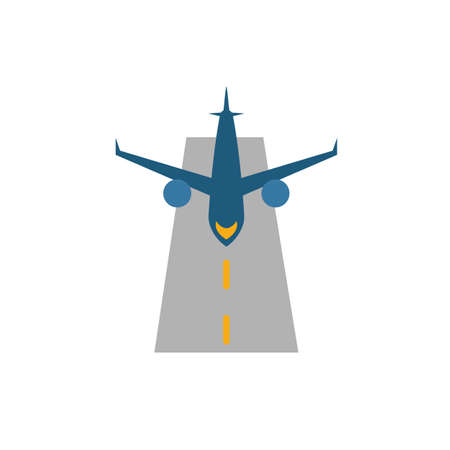 Runway icon. Flat creative element from airport icons collection. Colored runway icon for templates, web design and software. Ilustrace