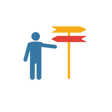 Decision icon. Flat creative element from business ethics icons collection. Colored decision icon for templates, web design and software.
