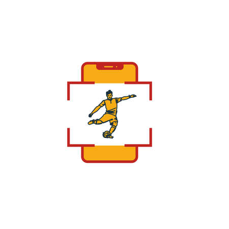 Augmented Reality Sport icon. Flat creative element from visual device icons collection. Colored augmented reality sport icon for templates, web design and software. Ilustrace