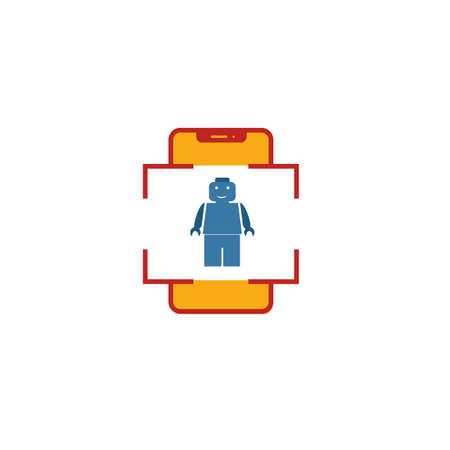 Augmented Reality Game icon. Flat creative element from visual device icons collection. Colored augmented reality game icon for templates, web design and software.