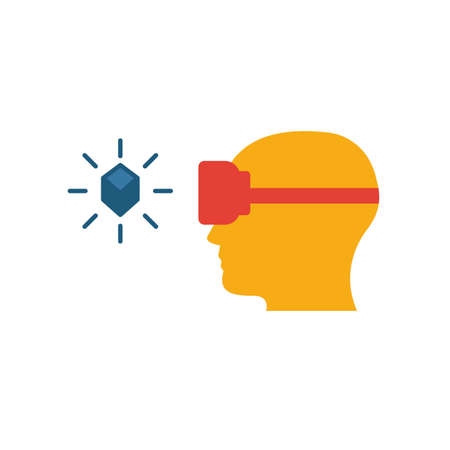 Augmented Reality Glasses icon. Flat creative element from visual device icons collection. Colored augmented reality glasses icon for templates, web design and software.