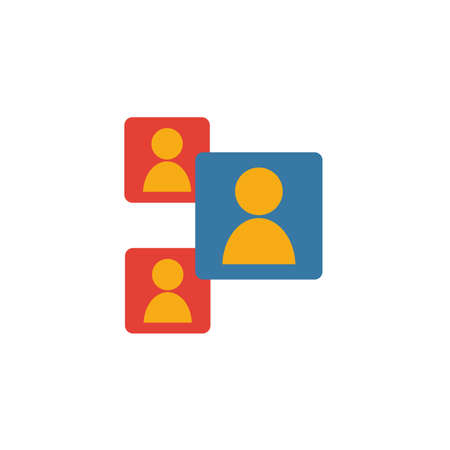 Video Conference icon. Flat creative element from visual device icons collection. Colored video conference icon for templates, web design and software.