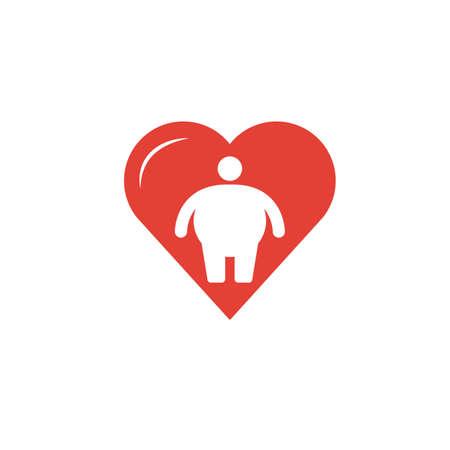 Body Positivity icon. Flat creative element from visual device icons collection. Colored body positivity icon for templates, web design and software.