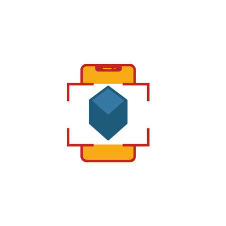Augmented Reality icon. Flat creative element from visual device icons collection. Colored augmented reality icon for templates, web design and software. Ilustrace