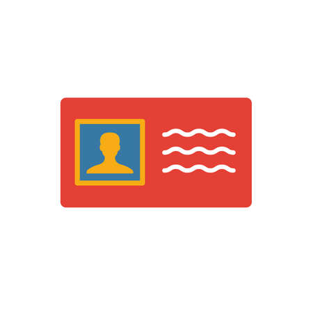 License To Work icon. Flat creative element from business ethics icons collection. Colored license to work icon for templates, web design and software.