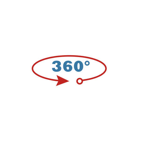 360 View icon. Flat creative element from visual device icons collection. Colored 360 view icon for templates, web design and software. Ilustrace