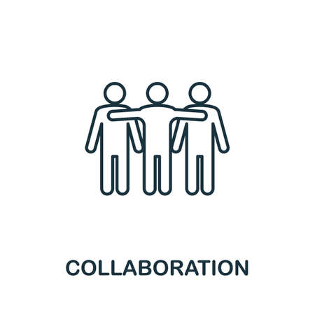 Collaboration line icon. Thin style element from business administration collection. Simple Collaboration icon for web design, apps and software. Ilustrace