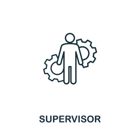 Supervisor line icon. Thin style element from business administration collection. Simple Supervisor icon for web design, apps and software. Illustration