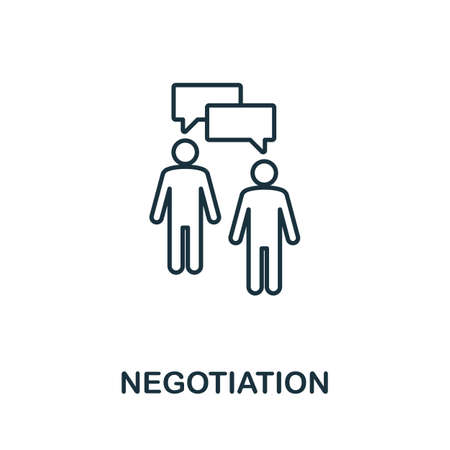Negotiation line icon. Thin style element from business administration collection. Simple Negotiation icon for web design, apps and software.