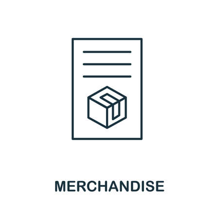 Merchandise line icon. Thin style element from business administration collection. Simple Merchandise icon for web design, apps and software.
