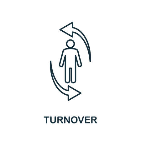 Turnover line icon. Thin style element from business administration collection. Simple Turnover icon for web design, apps and software.