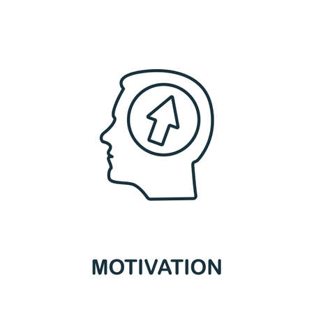 Motivation line icon. Thin style element from business administration collection. Simple Motivation icon for web design, apps and software. Ilustrace