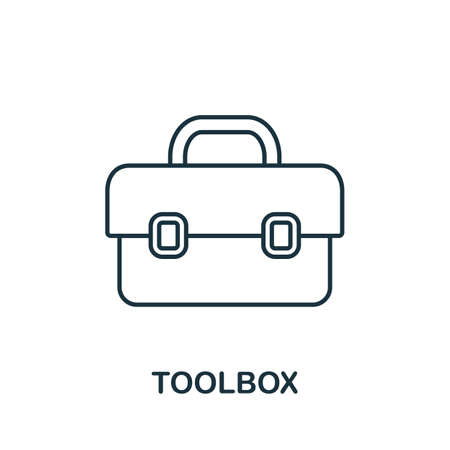 Toolbox line icon. Thin style element from construction tools icons collection. Outline Toolbox icon for computer and mobile.