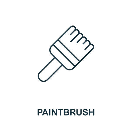 Paintbrush line icon. Thin style element from construction tools icons collection. Outline Paintbrush icon for computer and mobile. Ilustrace
