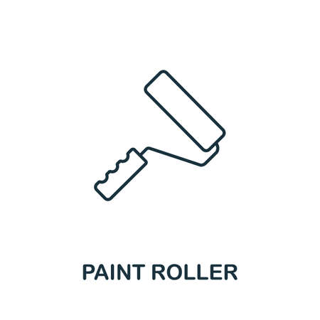 Paint Roller line icon. Thin style element from construction tools icons collection