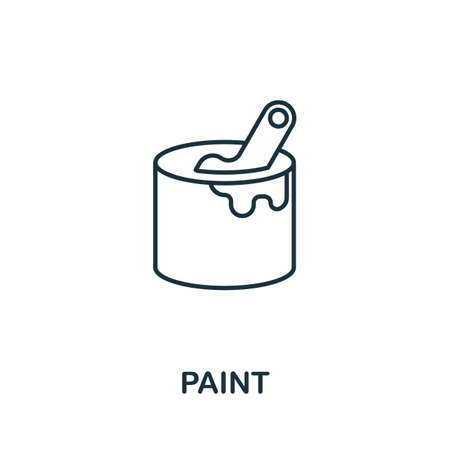 Paint line icon. Thin style element from construction tools icons collection. Outline Paint icon for computer and mobile. Ilustrace