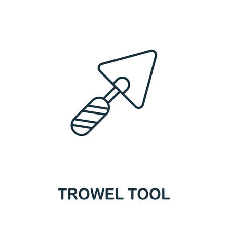 Trowel Tool line icon. Thin style element from construction tools icons collection. Outline Trowel Tool icon for computer and mobile. Ilustrace