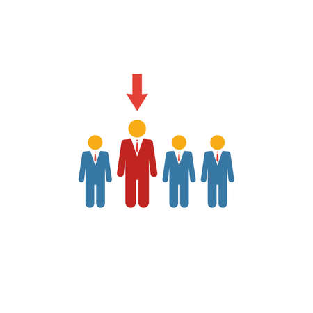 Recruitment icon. Simple element from human resources icons collection. Creative Recruitment icon ui, ux, apps, software and infographics.
