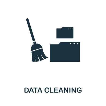 Data Cleaning icon. Simple element from data organization collection. Filled Data Cleaning icon for templates, infographics and more. Ilustrace