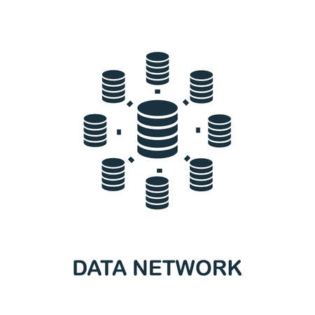 Data Network icon. Simple element from data organization collection. Filled Data Network icon for templates, infographics and more.