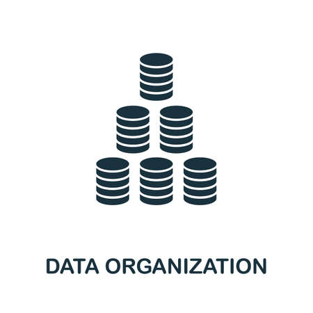 Data Organization icon. Simple element from data organization collection. Filled Data Organization icon for templates, infographics and more. Ilustrace