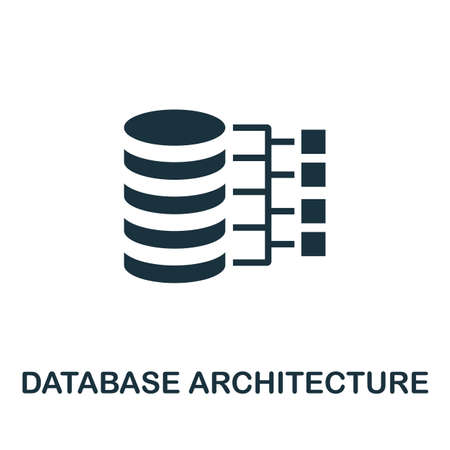 Database Architecture icon. Simple element from data organization collection. Filled Database Architecture icon for templates, infographics and more.